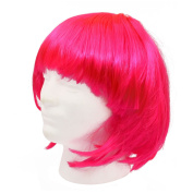 Fashion Cosplay Party Halloween Christmas Short Straight Hair Wigs Pink