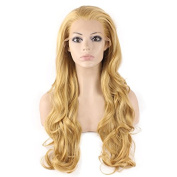 Iwona Long Wavy Celebrity Natural Hair Line Celebrity Synthetic Lace Front Blond Wig Natural