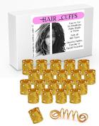 20 Gold Heart Design Dread Lock Cuffs & 1 Free Viking Dreads Bead