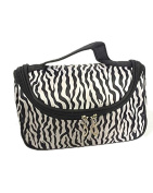 SAMGU new Zebra Stripe Foldable Lady Makeup Cosmetic Container Pouch Handbag Holder Bag