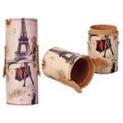 FEITONG New Cute Printed Eiffel Tower Portable Storage Makeup Bags Makeup Cups