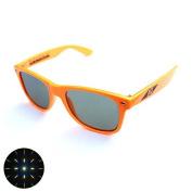 Emerald Tint Diffraction Glasses - Orange Frame