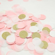 Since 2000 pieces Gold Pink Paper Table Confetti for Wedding Favour Valentine's Day Decoration 1 inch