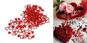 Dazzling Toys Red Heart Confetti. Super Wedding Party Decoration.