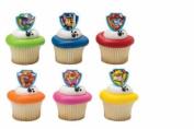 Paw Patrol cupcake rings (24) party favour cake topper 2 dozen
