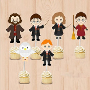 Harry Potter party Cupcake Toppers Harry Potter Birthday Party Decorations Party Supplies Birthday Party Decorations Kids