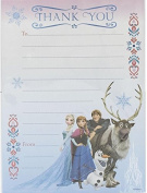 Frozen Pack Of 20 Thank You Sheets With Envelopes Elsa Anna Olaf Sven Disney