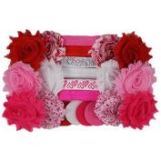 Valentine's Day - Love - Mini DIY Headband Kit - Makes 12 Single or 6 Double Headbands - Baby Shower Headband Station - Fashion Headbands for Birthday Party & Baby Shower Games