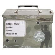 Kids Army Ammo Tin Lunch Box - Toy Storage Tin - Camouflage Ammo Box