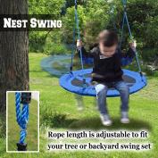 Tree Swing Giant 100cm Saucer Spinner Swing Easy Installation Bird Nest Swing Tree Swing Kit