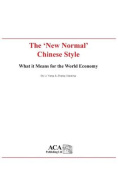 "The ""New Normal"" Chinese Style"