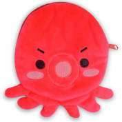 Red Octopus Cute Cartoon Design Lovely Small Zipper Coin Purse Pouch Bag New