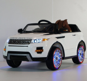 Range Rover Style Ride On Toy Car For Kids With Remote Control 12V Battery Operated White. rideONEcar