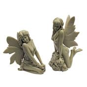 Design Toscano The Enchanted Garden Fairies Sculptures - Set of 2