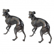 Design Toscano SP91577 the Loyal Whippet Authentic Foundry Iron Casting