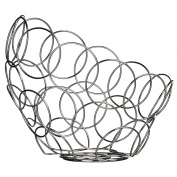 Premier Housewares Ellipse Fruit Bowl - Chrome