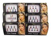 Banithani 6 Pcs Bindi Traditional Indian Tattoo Temporary Forehead Sticker Fashion Jewellery
