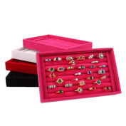 Voberry® Full Velvet Ring Box Jewellery Box Earrings Ring Jewellery Box Tray Box