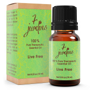Live Free Pain Relief Synergy Blend Essential Oil 100% Pure & Natural Therapeutic Grade 10 ml - Anti Inflammatory, Helps with Muscle Aches, Joint Soreness and Discomfort - By 7 Jardins