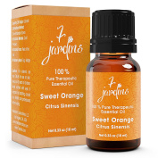 Premium Sweet Orange 100% Pure & Natural Therapeutic Grade Essential Oil. 10 ml - Anti Depressant, Anti Bacterial, Anti-Inflammatory - Boosts Immunity, Enhances Skin and Beauty- By 7 Jardins