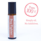 Bug Fighter Essential Oil Blend Roll-On Bottle by Simply Earth - 10ml, 100% Pure Therapeutic Grade