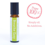 Breathe Easy Essential Oil Blend Roll-On Bottle by Simply Earth - 10ml, 100% Pure Therapeutic Grade
