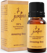 Amazing Day Energy Boost Synergy Blend Essential Oil 100% Pure & Natural Therapeutic Grade 10 ml - Energises, Uplifts - Lemon, Lime, Grapefruit Pink, Eucalyptus Globulus, Ginger, Lemongrass