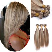 Tony Beauty Hair Piano Colour 3 Bundles Brazilian Virgin Human Hair Two Tone #8 #613 Colour Silky Straight Hair Extension For Woman 8-80cm