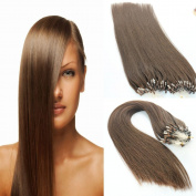 Virgin cuticle micro loop human hair extension double drawn pre-bonded hair #4 colour (1g/str,100g/lot)