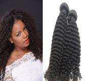 Best quality deep curly human hair weft natural colour virgin hair bundles 1 bundle(100g)