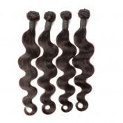 Indian Virgin Hair Body Wave 4 Bundles Remy Velvet Indian Wavy Human Hair Extension 8A Indian Body Wave Virgin Hair