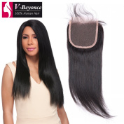 V-Beyonce 4x 4 Lace Closure With Baby Hair Brazilian Virgin Hair Straight Closure 50cm Free Part