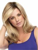 Finders Wigs 36cm Women Wig Heat Resistant Synthetic Hair Medium Long Wavy Wigs Blonde