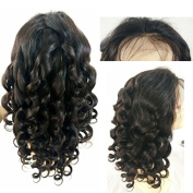7A Malaysian Loose Curly Glueless Full Human Hair Wigs For Black Women 130% Density Lace Front Human Hair Wig Curly Lace Wig