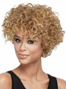 Finders Wigs 15cm Natural short Afro kinky Curly Wig Fashion Heat Resistant synthetic hair wigs Blonde