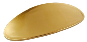 Parcelona French Oval Golden Celluloid Automatic Hair Clip Hair Barrette Long Lasting
