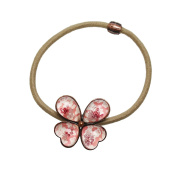 Tamarusan Ponytail Holder Butterfly Pink Barrette Hair Ornaments Fashionable Popular Women