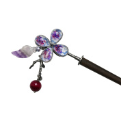 Tamarusan Hairpin Ornament Removable Agate Freshwater Pearl Amethyst Wood Stick Handmade Women