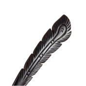 Vintage Ebony Black Wood Handmade Carved Phenix Feather Hair Stick Hairpin Chignon Pin Peacock Tail Bun Upto Beauty Tool