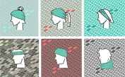 AK Glacial Boho Seamless Multi-Use Buff Headband - Light Grey/Turquoise