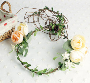 Merroyal Flower Crown Floral Crown Wedding Wreath Boho Garland for Wedding Festivals