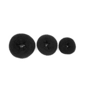 Thinkmax Ballet Dance Dancing Hair Chignon Donut Bun Ring Shaper Hair Styler Maker Black 3pcs Set