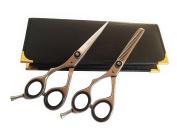 Left Handed Professional Hairdressing Lefty Hair Stylist Barber Salon Scissors & Thinning Shears Set 14cm Japanese Steel + Black CASE