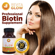 Revita Glow - Maximum Strength Biotin | Supports Healthy Hair Growth, Soft Skin, and Strong Nails | Vitamin Supplement to Reduce Hair Loss | 3000mcg 30 Capsules