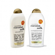 (OGX) Organix Coconut Milk Shampoo & Conditioner, 580ml each by (OGX) Organix