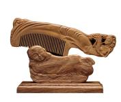 ICEGREY Handmade Sandalwood Wooden Comb Hair Brush Rake Comb Music Nymph