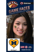 NCAA Michigan Wolverines 4-Pack I Love My U Temporary Tattoos