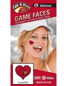 NCAA Louisville Cardinals 4-Pack I Love My U Temporary Tattoos