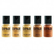 Dinair Airbrush Makeup Foundation | 5pc Paramedical Set | Medium Shades | Covers Scars, Acne, Tattoos, Under Eye Circles, Sun Spots, Vitiligo