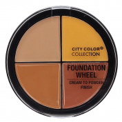 City Colour - Foundation Wheel, Cream to Powder Palette - Medium to Deep